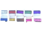 Knick Knack Supplies 10 Colour/Rolls Nail Striping Tape
