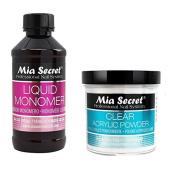 Mia Secret Set 120ml Liquid Monomer with 120ml Clear Acrylic Powder Nail Art Pro
