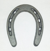 Aunt Chris' Products - Small Horseshoe - Durable Cast Iron - 3 Holes On Each Side - Silver Colour - Wall Hung - Country Western Décor - Primitive - Use Indoor Or Outdoor - Said To Bring Luck!