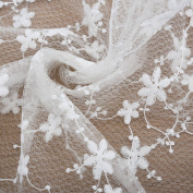Sundlight Beautiful Flower Lace Embroidered Colth Super Soft Lace Fabric by 3 Yards