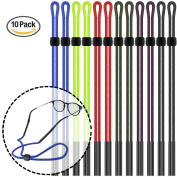 12pcs Eyeglass Holder Straps, maxin Colourful Nylon Braided Safty Eyeglasses Neck Cord String, Sunglass Holder Strap Unisex for Sports and Outdoor Activities.