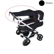 Smart Planet Premium Awning/Fits All Standard Pram and Sport Buggy – UV 50 + Sun Protection – Colour