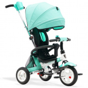 Folding Children Tricycle Bicycles Inflatable Baby Trolley Baby Bike Stroller
