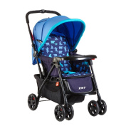 Baby Trolley Folding Light Can Take A Neonatal Baby Two-way Four-wheel Shock Absorber Trolley