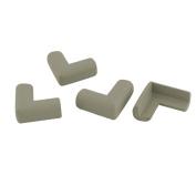 sourcingmap® Household Furniture Table Drawer Cabinet Corner Edge Protect Bumper Cushion 4 Pcs Grey