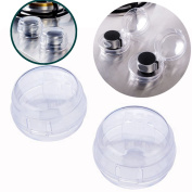 TIANOR 2pcs Universal Children Kids Baby Safety Lock Stove Gas Knob Protective Covers Lid Translucent - Clear View Stove Oven Knob Guards Baby Child Safety & Kitchen Tools
