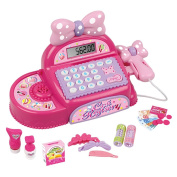 BFOEL Pretend Play Cash Register-Educational Calculator,Realistic Actions Sounds Kid's Birthday Gift