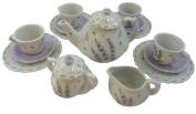 Sadek 17 Piece Childrens Tea Party Set for 4, Lavender Design