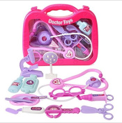 Pink Pretend & Play Doctor Set Doctor Medical Kits for kids Doctor Equipment in carrying case