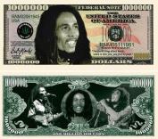 "5 Bob Marley Million Dollar Bill with Bonus ""Thanks a Million"" Gift Card Set"