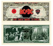 "5 AC/DC Million Dollar Bills with Bonus ""Thanks a Million"" Gift Card Set"