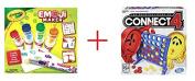 Connect 4 Game AND Crayola Emoji Marker Maker - Bundle