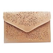 Meliya Women's Flower Hollow Out Evening Bag Pu Leather Clutch Handbag Envelope Chain Tote Shoulder Bag