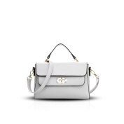 NICOLE & DORIS Fahion Women Handbag Crossbody Shoulder Bag Lock PU Leather Grey