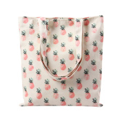 Moolecole Fashion Women's Cute Pattern Canvas Handbags Tote Shopping Shoulder Bag Pineapple