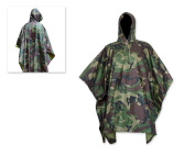 DSstyles Camping Heavy Duty Camo Rain Poncho Waterproof Ripstop Hooded Rain Coat Multifunctional Raincoat can be used as Picnic Blanket, Tent, Shelter