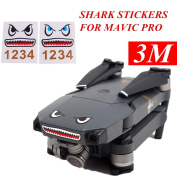 3M Stickers Shark Face Decals Skin DIY Accessory for DJI MAVIC PRO