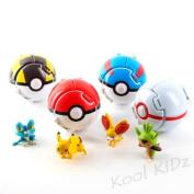 Kool KiDz Bounce Pokemon Pokeball Cosplay Pop-up Go Fighting Poke Ball Toy