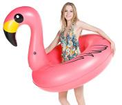 Jasonwell Giant Inflatable Flamingo Pool Float Party Tube with Rapid Valves Summer Outdoor Swimming Pool Lounge Raft Decorations Toys for Adults & Kids