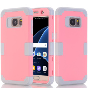 Galaxy S7 Case, Asstar Galaxy S7 - 3 in 1 Shockproof Hybrid Hard PC+ Soft TPU Impact Protection Scratch-Resistant Cover Absorption Bumper Full-Body Case for Samsung Galaxy S7