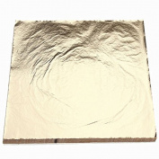 Refaxi 100Sheets Imitation Gold Leaf Foil Paper Gilding Art Craft 14x14cm