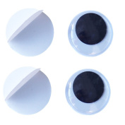 BESTCYC 100pcs 30mm Black Round Wiggly Googly Eyes with Self-adhesive DIY Scrapbooking Crafts