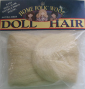 HOME FOLK Craft 1 PACK of 100% WOOL Roving DOLL HAIR 1 YARD Long colour #850LBL LIGHT BLONDE Cleaned & Carded