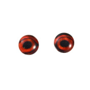 6mm Small Glass Duck Eyes Pair Taxidermy Sculptures or Jewellery Making Crafts Set of 2
