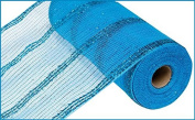 25cm x 9.1m Wide Tinsel Foil Mesh Ribbon (Turquoise) : RY840171