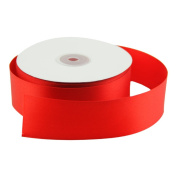 VATIN 2.5cm - 1.3cm Wide 50-Yards Long Double Face Solid Satin Ribbon Roll, Red