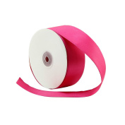 VATIN 2.5cm - 1.3cm Wide 50-Yards Long Double Face Solid Satin Ribbon Roll, Hot Pink