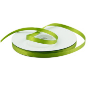 VATIN 0.6cm Wide 50-Yards Long Double Face Solid Satin Ribbon Roll, Greenery