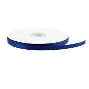 VATIN 0.6cm Wide 50-Yards Long Double Face Solid Satin Ribbon Roll, Navy Blue