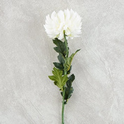 60cm Long White Artificial Mum Floral Stem for Crafting, Arranging and Displaying
