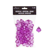 Mega Crafts 0.2kg Acrylic Gemstones Fuchsia | Plastic Glass Gems For Arts And Crafts, Vase Fillers And Table Scatters, Decoration Stones, Shiny Pebbles
