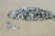 144 pk NICKEL Size 0 Grommets with washer 0.6cm Leather Hardware