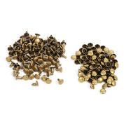 100 Sets 8mm x 8mm Double Round Cap Rivet Rapid Rivets Button Studs Punk Spike Repair Leathercraft DIY Decoration
