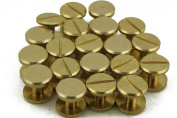 ( Pack of 10 Pcs ) Solid Brass Chicago Button Stud Nail Screw back Leather Nail Rivet Craft Belt,10.5×6mm