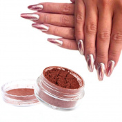 C-Pioneer 2g Rose Gold Mirror Effect Nail Power Shinning Manicure Polish Glitter Powder