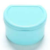 1 Pcs Sky Blue Health Dental Orthodontic Retainer Box Mouthguard Denture Storage Case by Team-Management
