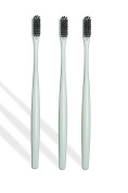 Polar Super Soft Antibacterial Charcoal Toothbrush Set of 3 is Perfect when Paired with Polar Charcoal Powder