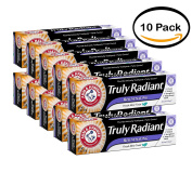 PACK OF 10 - Arm & Hammer Truly Radiant Fluoride Anticavity Toothpaste Fresh Mint Twist, 130ml