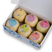 6 Bath Bombs Gift Set Organic Handmade Lush Bath Bomb Spa Fizzies Gifts for Women