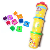 Play Doh Bath Soap For Kids 5 Colours Of Moldable Soap And 3 in 1 Bath Shampoo, Conditioner, and Body Wash Bundle