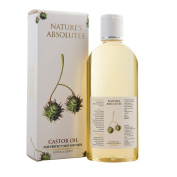 Nature's Absolutes Coldpressed Castor Oil , 100% Pure & Natural,Organic for Hair Growth and Anti-Hairfall - 6.8 Oz/200 ml
