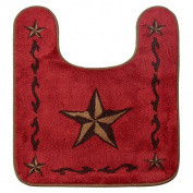 HiEnd Accents Western Red Star Contour Rug