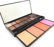 20 Colour Eyeshadow Palette Makeup Cosmetic Contouring Kit Combination with Concealer and Blusher Mirror