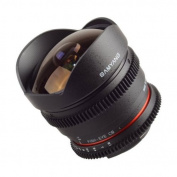 Samyang 8 mm T3.8 VDSLR Manual Focus Video Lens for Nikon DSLR Cameras