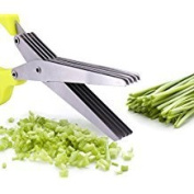 Herb Scissors, Multifunctional Kitchen Shear with 5 Blades and Cleaning Comb