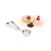 Restaurantware 1 Count box 50ml Met Lux #24 Ice Cream Scoop, Medium, Stainless Steel